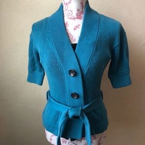 Banana Republic Short Sleeve Belted Cardigan XS